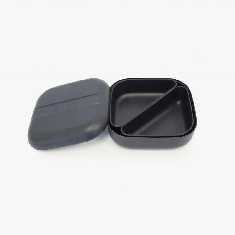 Ekobo Bento Lunch Box Square Black