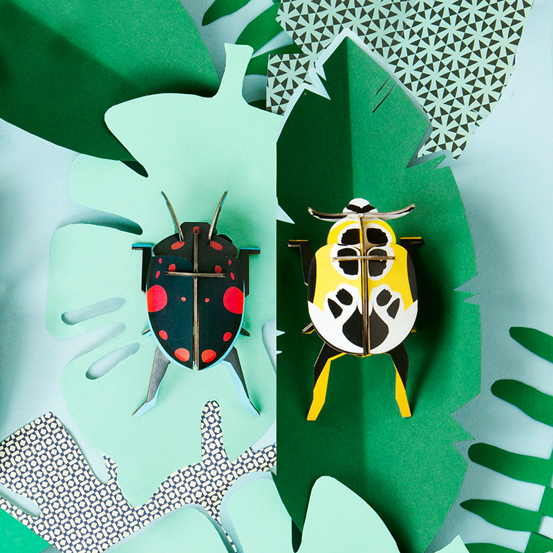 AMODO Berlin Deutschland Germany Studio Roof Paper Toy Beetle