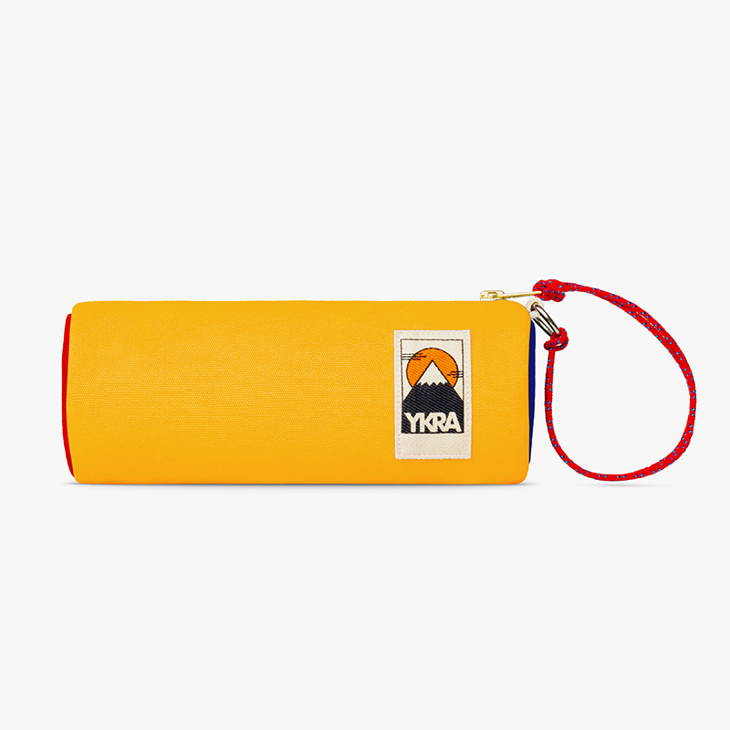 Ykra Tube Pencil Case Blue red Yellow
