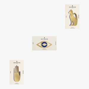 AMODO Berlin OCTAEVO Brass Bookmarks Hamsa