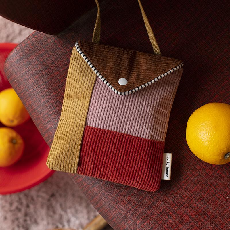 Wallet bag Corduroy Sticky Lemon AMODO Berlin Deutschland Germany